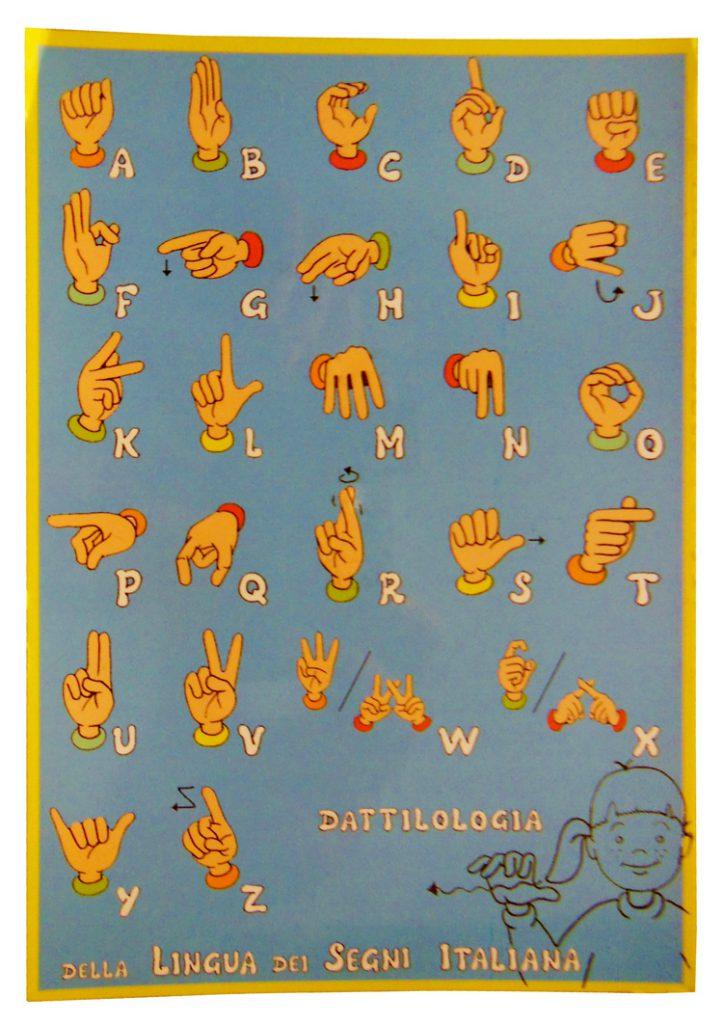 cartolina lis lingua dei segni