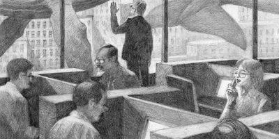 illustrazione in bianco e nero a matita